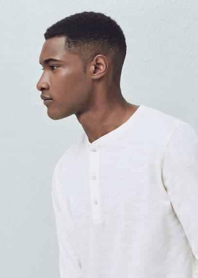 Henleyshirt aus baumwolle | MANGO MAN
