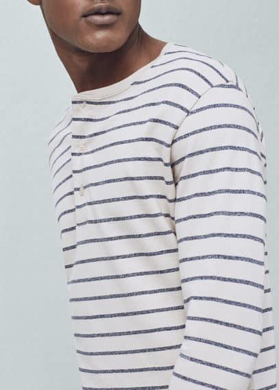 条纹亨利t恤 | MANGO MAN