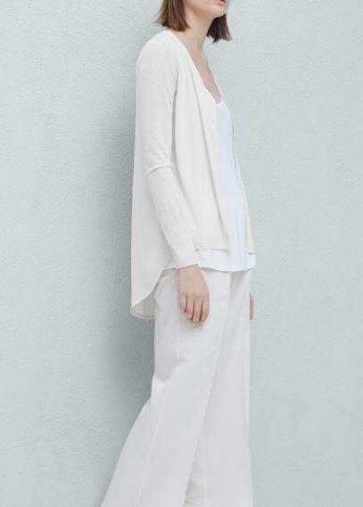 Contrast back cardigan | MANGO