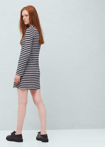 Textured cotton-blend dress | MANGO