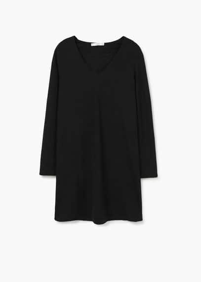 Textured cotton-blend dress   MANGO
