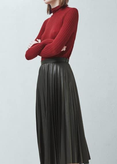 Falda midi plisada | MANGO