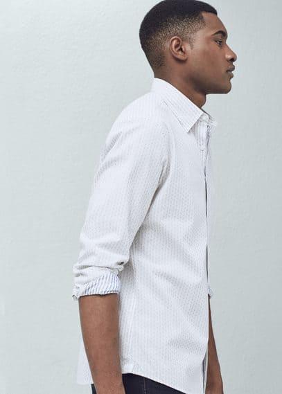 修身条纹衬衫 | MANGO MAN