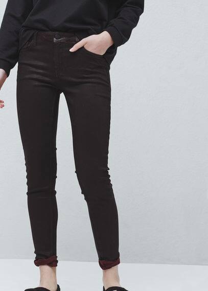 Skinny gloss jeans   MANGO
