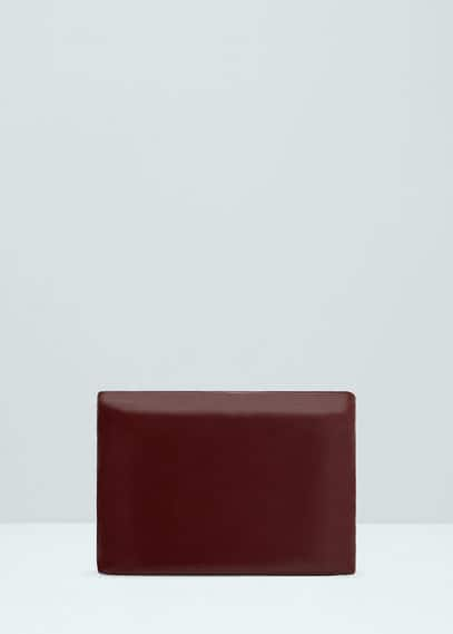 Premium - leather clutch | MANGO