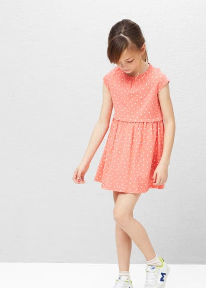 Cotton-blend dress | MANGO KIDS