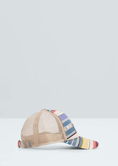 Striped cap | MANGO MAN