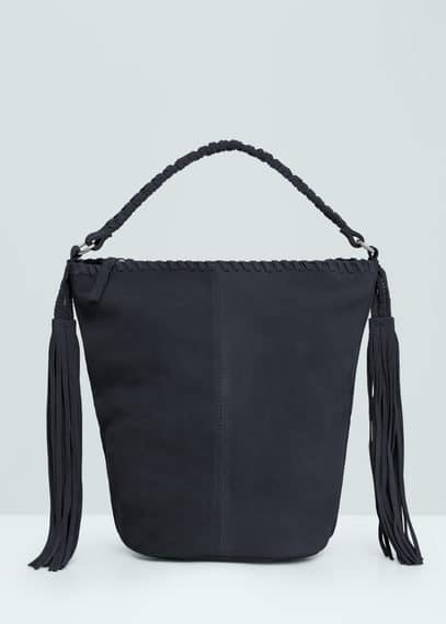 Fringed suede bag | MANGO