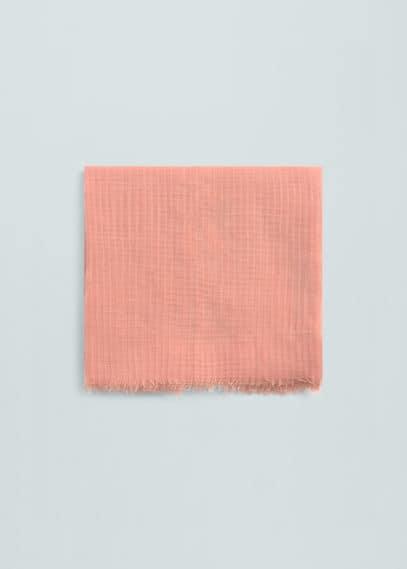 Textured scarf | MANGO