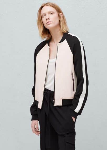 Contrast jacket | MANGO