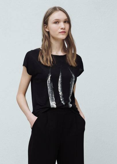 T-shirt met print | MANGO