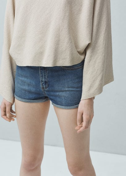 Short denim tiro alto | MANGO
