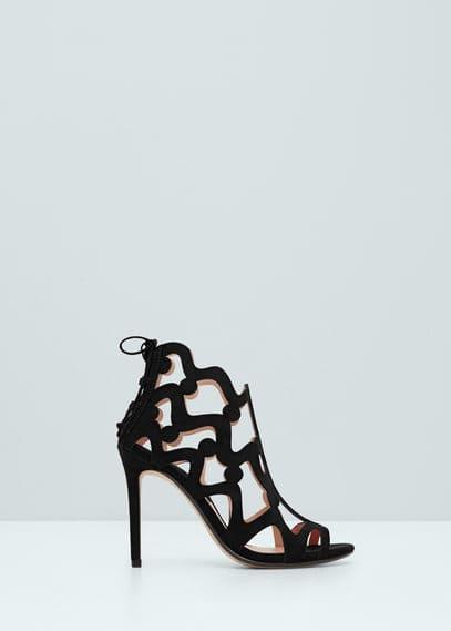 Sandalia diseño perforado | MANGO