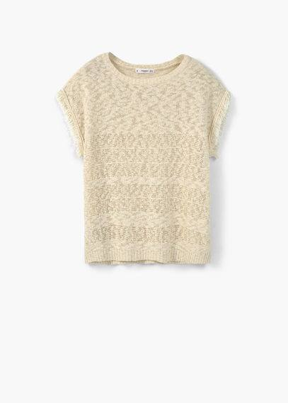 Pull-over coton à franges | MANGO