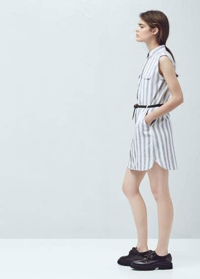 Cotton shirt dress | MANGO