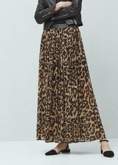 Falda diseño animal | MANGO