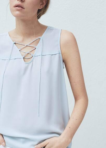 Braided cord top | MANGO