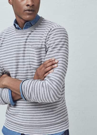 Jersey algodón rayas | MANGO MAN