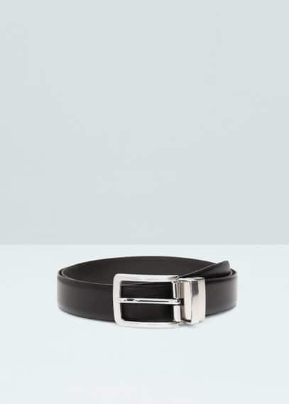 Leather reversible belt | MANGO MAN