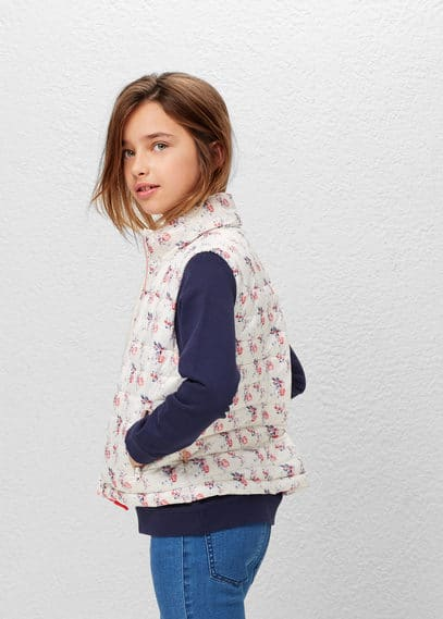 Water-repellent quilted gilet | MANGO KIDS