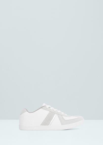 Contrast appliqué sneakers | MANGO MAN