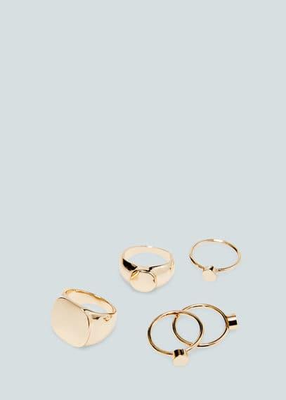 Metal ring set   MANGO