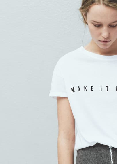 Message modal-blend t-shirt | MANGO