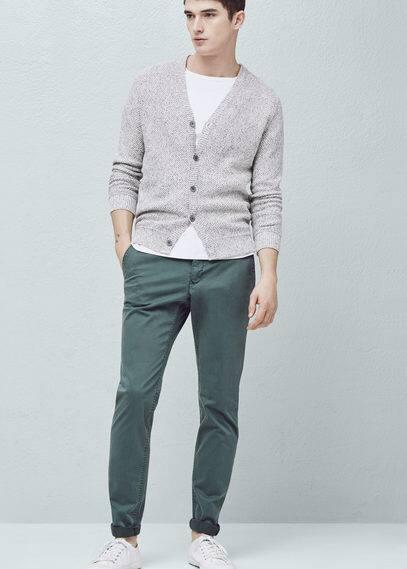 Slim fit baumwoll-chinohose | MANGO MAN