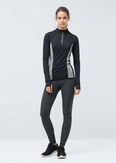 Fitness & running - long-sleeve technical t-shirt | MANGO