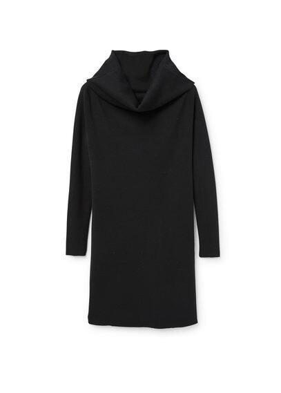 Robe Maille Coton - Ajusté, tissu de coton mélangé, tissu en maille, col boule, manches longues.