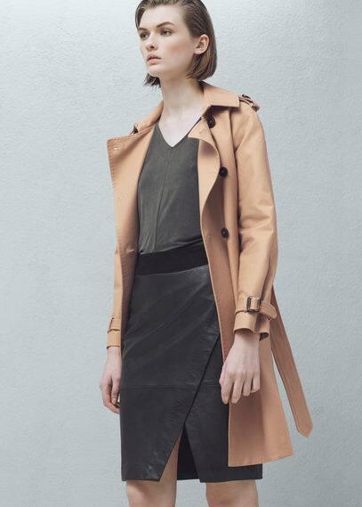 Leather pencil skirt | MANGO