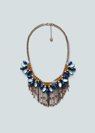 Crystal waterfall necklace | MANGO