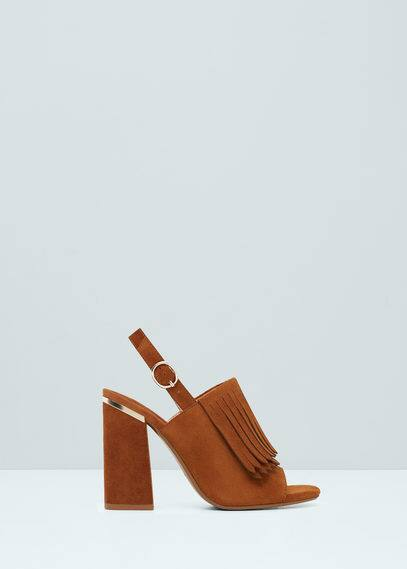 Sandalia serraje flecos | MANGO
