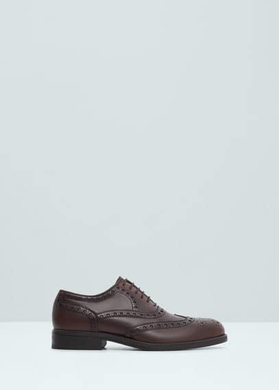 Leren oxford schoenen | MANGO MAN