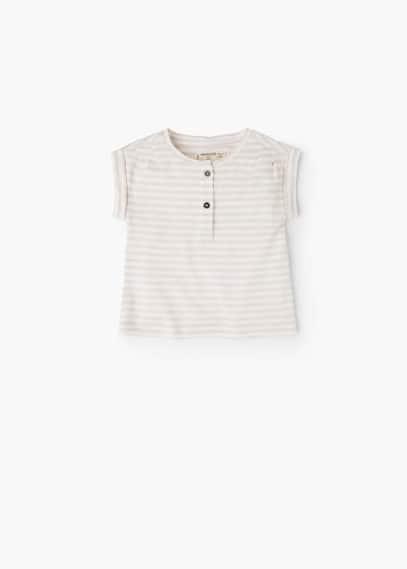 Maglietta cotone righe | MANGO KIDS