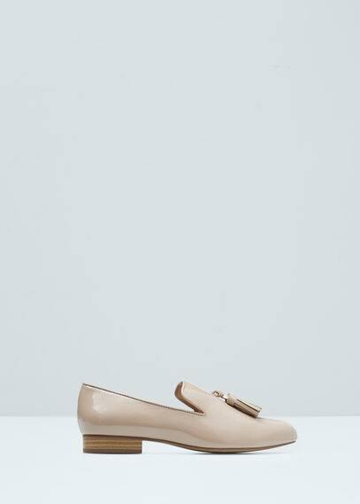Pompom flat shoes | MANGO