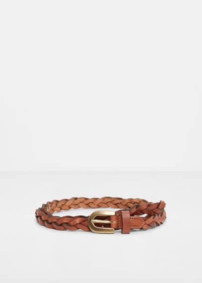 Cinturón piel trenzado | VIOLETA BY MANGO