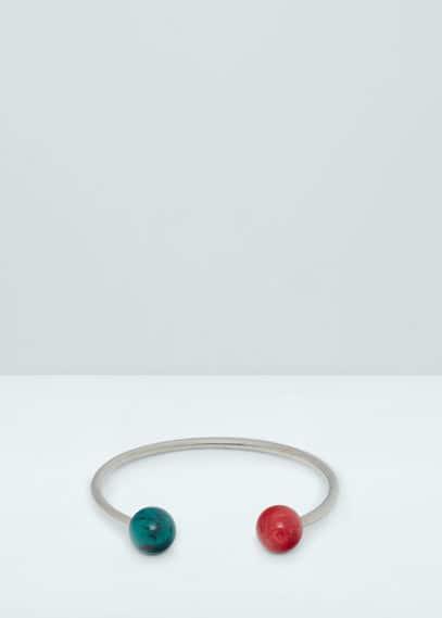Ball rigid bracelet   MANGO