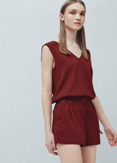 Printed jumpsuit | MANGO