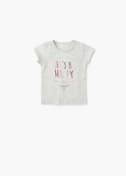 Maglietta cotone messaggio | MANGO KIDS