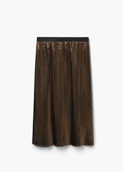 Falda plisada metalizada | MNG