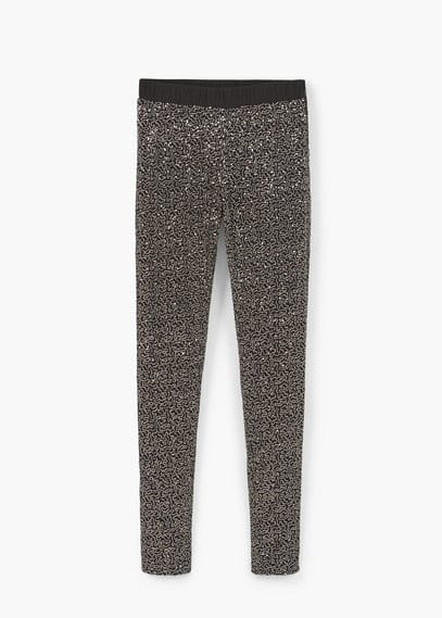 Sequin leggings | MANGO