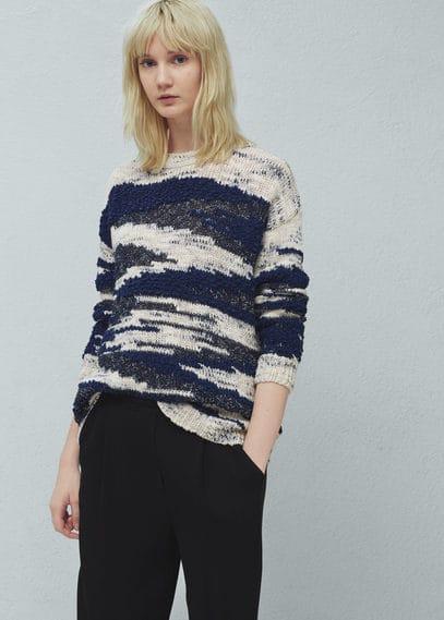 Textured cotton sweater | MANGO