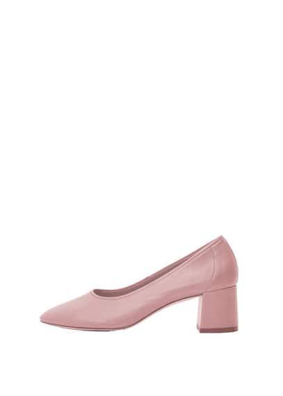 Chaussures À Talon Cuir - Talon de 5 cm, Talon large