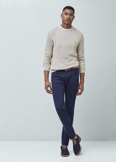 Pantalon slim-fit 5p garment-dyed | MANGO MAN