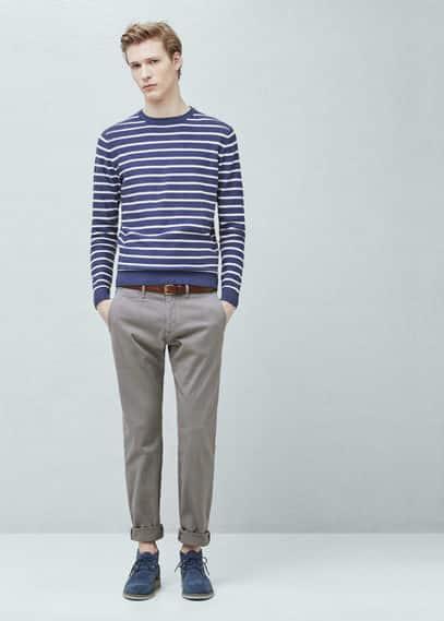 Узкие хлопковые брюки чинос | MANGO MAN