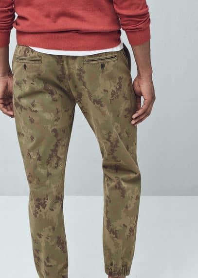 Pantalon jogging camouflage | MANGO MAN