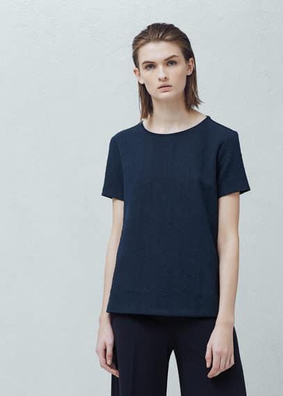 Textured t-shirt | MANGO