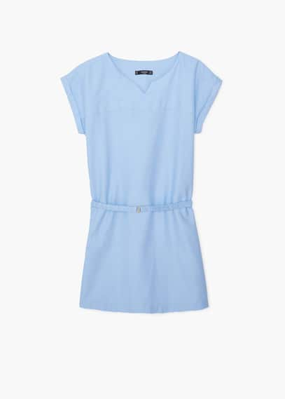 Robe coton ceinture | MANGO