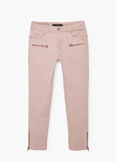 Pantalon skinny crop | MANGO